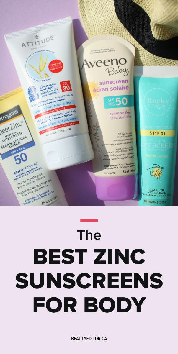 These are the best high-zinc mineral sunscreens for your body.