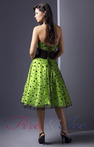 short lime green dress - ready for Mission Possible 2013