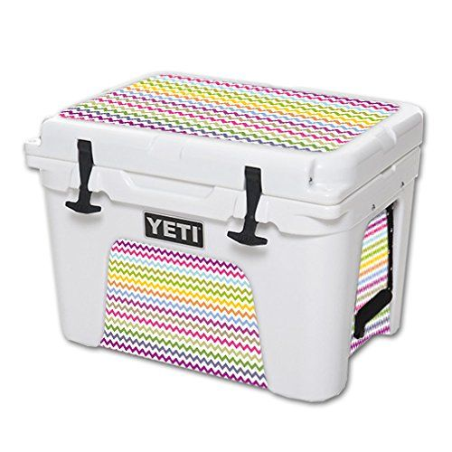 MightySkins Protective Vinyl Skin Decal for YETI Tundra 35 qt Cooler wrap cover sticker skins Rainbow Chevron >>> Be sure to check out this awesome product.(This is an Amazon affiliate link and I receive a commission for the sales)