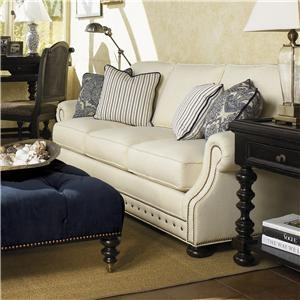 Kingstown Osbourne Sofa With Nail Head Trim By Tommy Bahama Home   Howell  Furniture   Sofa Beaumont, Port Arthur, Lake Charles, Texas, Louisiana