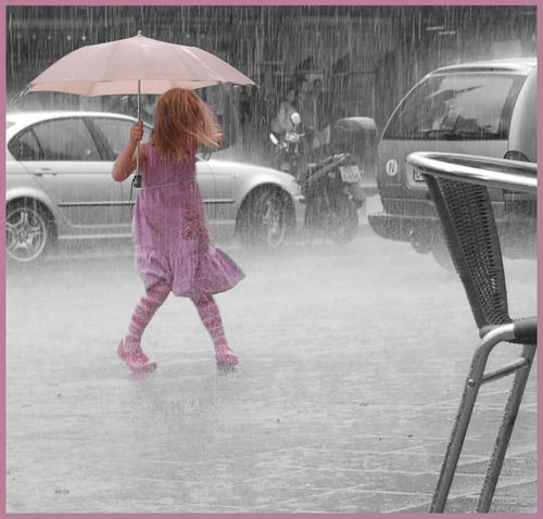.: Pink Feelings, Rainy Day, Colors Photography, Umbrellas Rain, Rain Dance, Pink Umbrellas, Raindrop, Rain Rain, Rain Drop