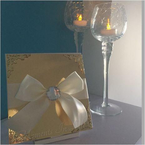 Gold Corner Embellished Invitation  http://www.momentsinlife.net.au/collections/wedding-invitations/products/gold-corner-embellished-invitation