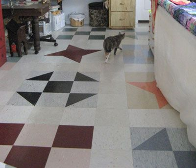 What a unique and cool way to do your floor!!!  This is just awesome!