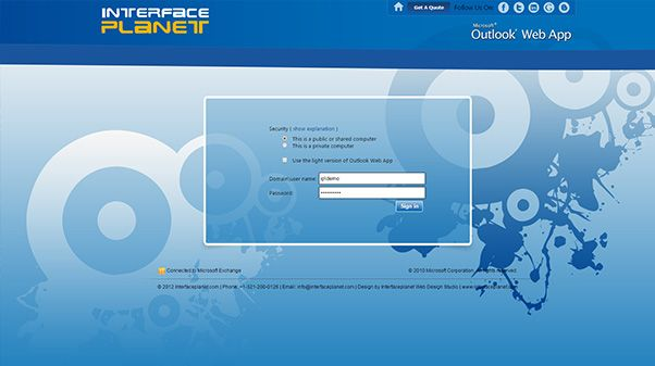 Go with Microsoft Outlook Web App interface with fully customized design at very affordable price from Interface Planet. Visit the website www.interfaceplanet.com for more information.