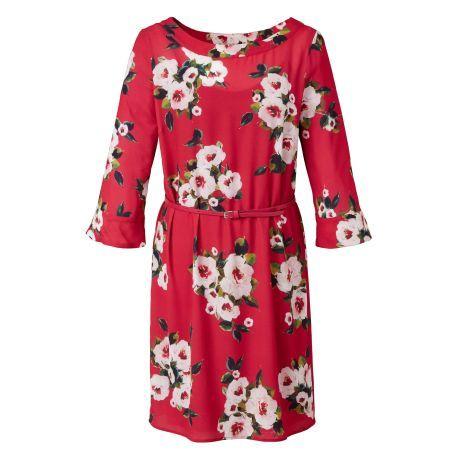 Rosige Zeiten! Dieses Kleid schreit förmlich nach einem Besuch auf einem englischen Landgut. Funktioniert aber auch prima zur nächsten Gartenparty daheim.