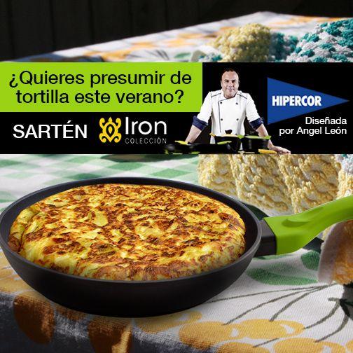 El secreto para una tortilla perfecta está en su sartén. Descubre Iron by Ángel León en Hipercor, ¡ahora con 25% de descuento!