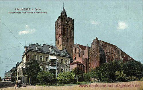 Frankfurt a. O. - Marienkirche und Große Scharrnstraße