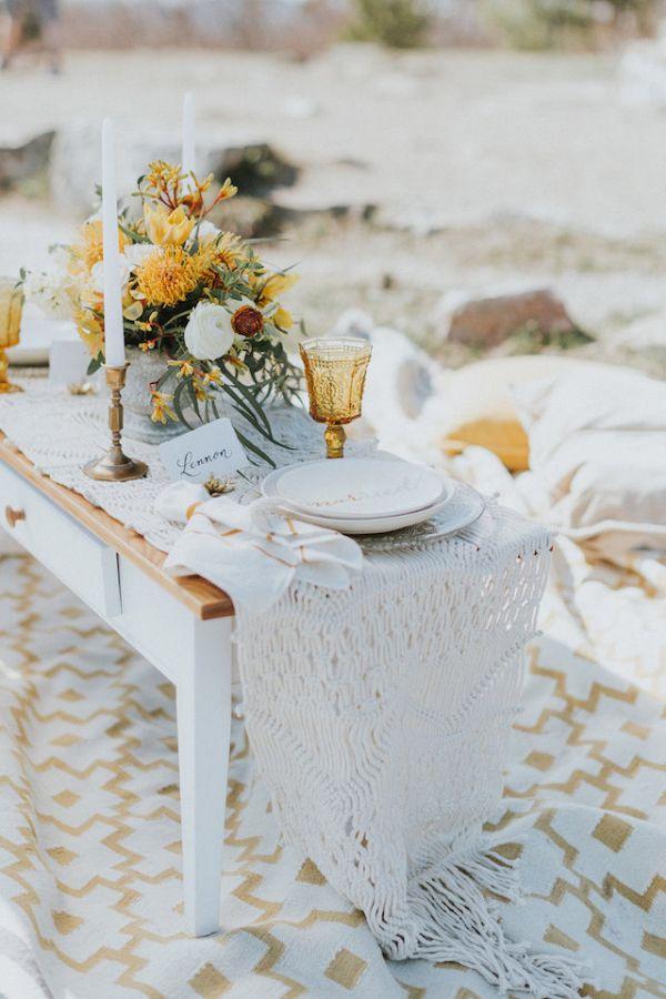 Boho tablescape    #weddings #weddingideas #aislesociety  #bohowedding