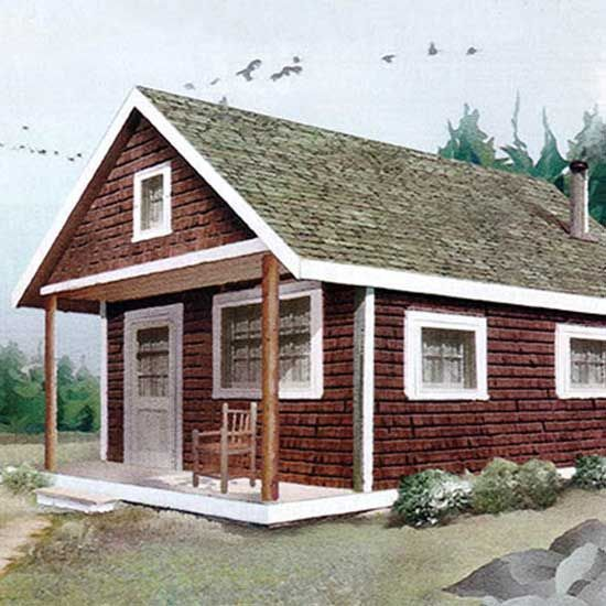 Build This Cozy Cabin Mother Earth News In 2020 Cozy Cabin House Blueprints Diy Cabin