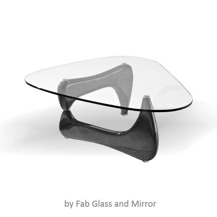 Noguchi Style CoffeeTable Black Color With Clear