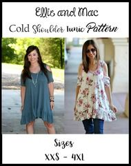 Teen / Women's Cold Shoulder Tunic Pattern