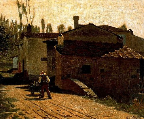 Abbati, Giuseppe (1836-1868) - 1864 Piagentina the Milkman (Civic Museum, Naples)  #TuscanyAgriturismoGiratola