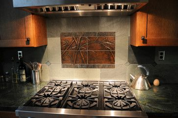 love the bamboo tile Dannell Residence - asian - kitchen - portland - Artistic Stone Design