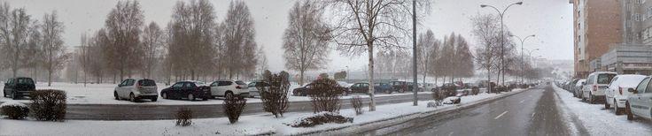 Una de las típicas nevadas de León...