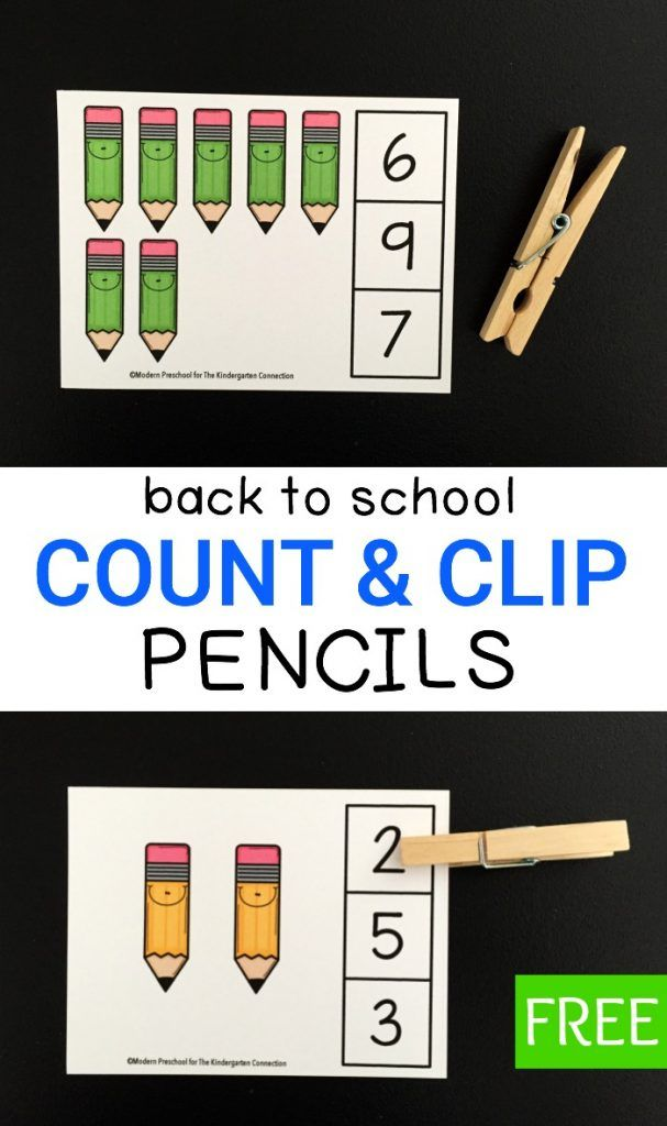These pencil count and clip cards are perfect for building number sense in preschoolers and kindergarteners. Use them for back to school or…