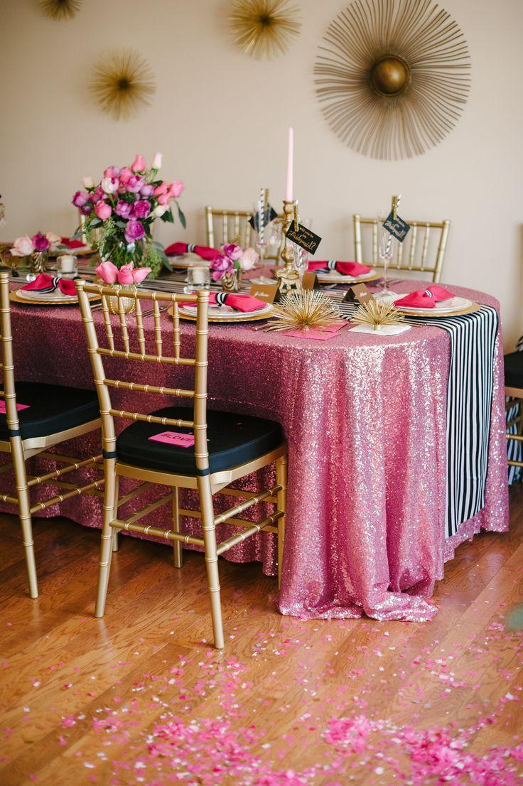 Toalha de mesa de paetê