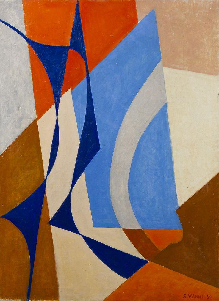 Sam Vanni Sommitelma, 1964, öljy, 81 x 60 cm. Hagelstam.
