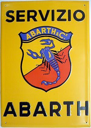 YELLOW, Fiat Abarth Servizio sign