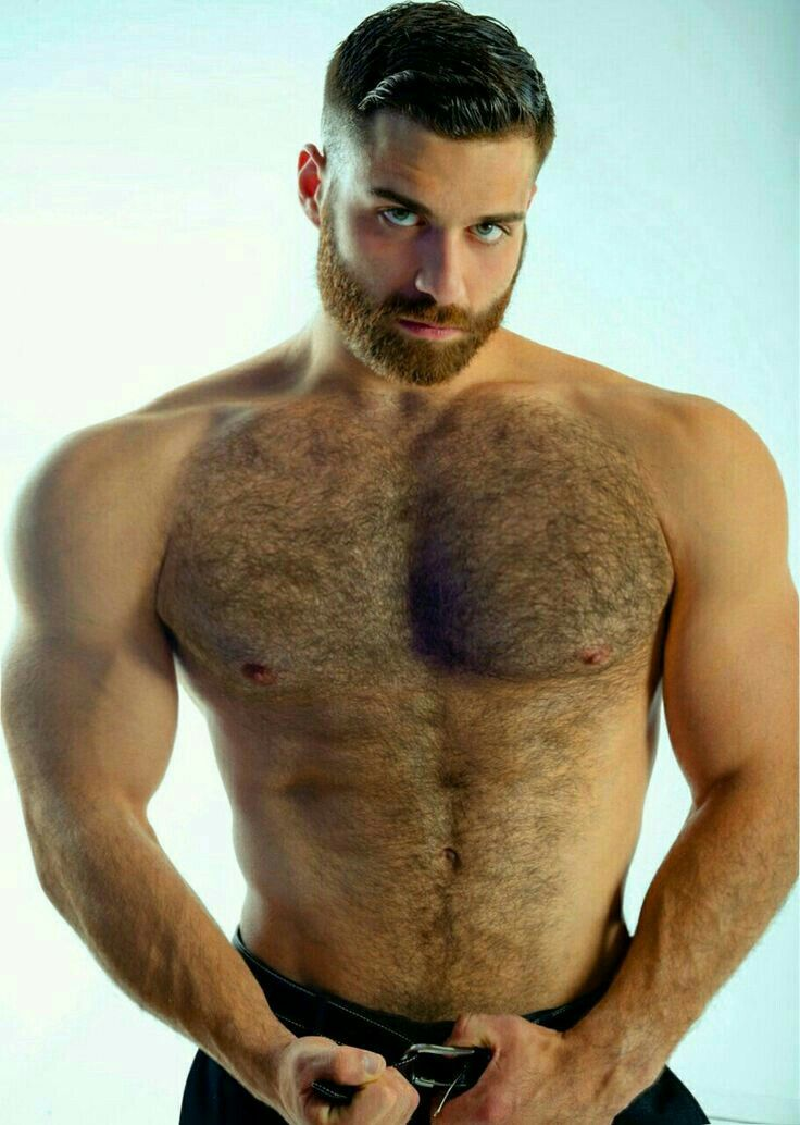 Muscle hairy nude male