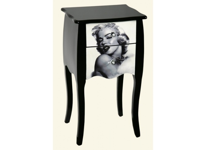 marilyn monroe dining table and chairs marilyn monroe bedside table random pinterest. Black Bedroom Furniture Sets. Home Design Ideas