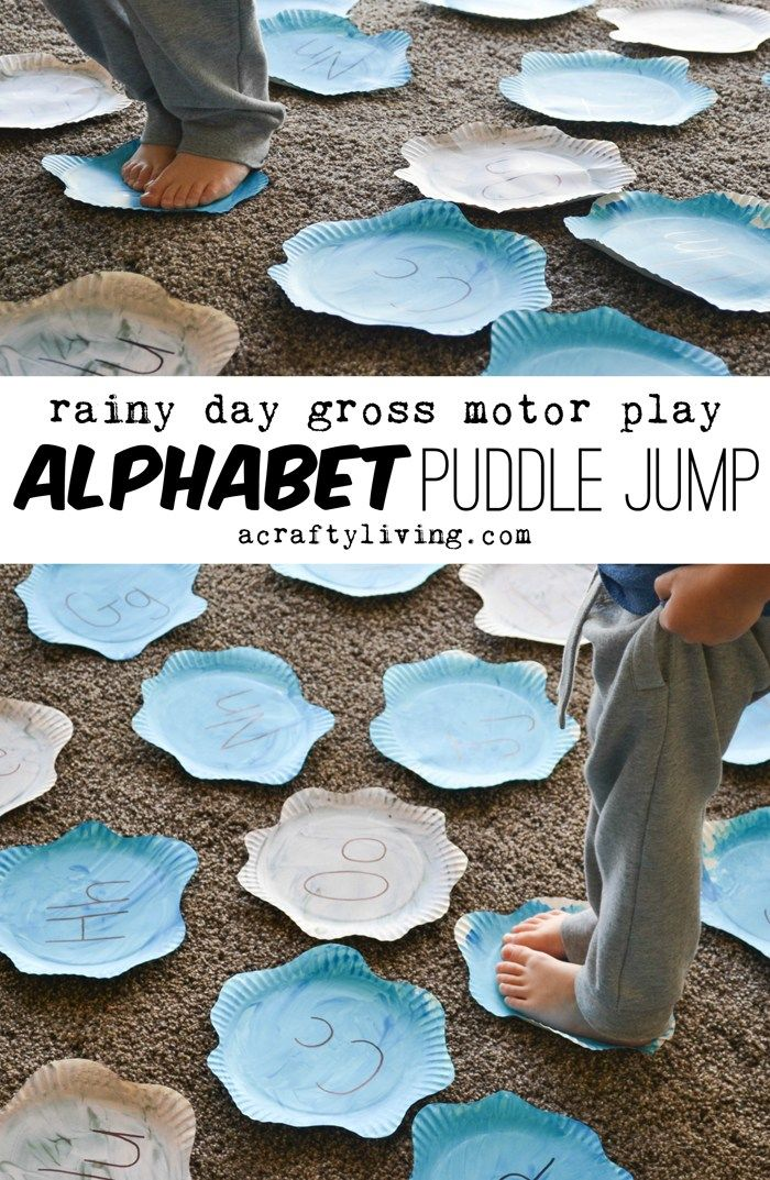 A Crafty LIVing - Alphabet Puddle Jump www.acraftyliving.com - repinned by @PediaStaff – Please Visit ht.ly/63sNt for all our pediatric therapy pins