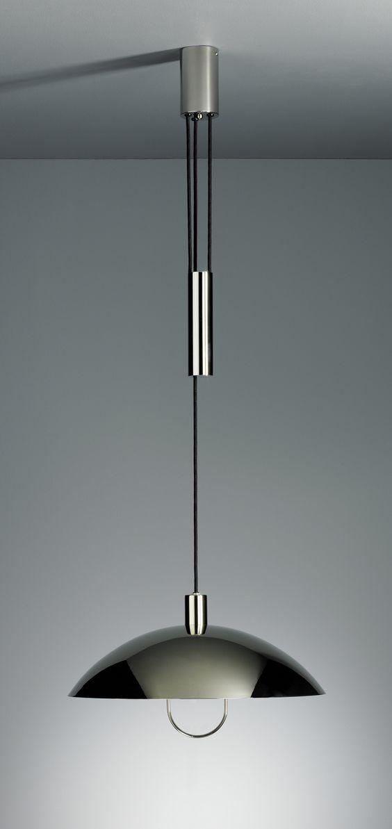adjustable ceiling lights by marianne brandt 1927