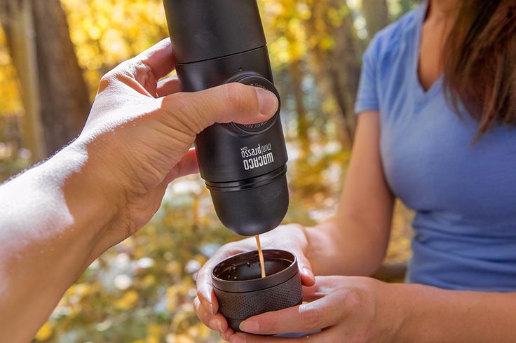 MiniPresso GR Espresso Maker-Minipresso can make coffee anyplace.  -Minipresso is hand worked, no batteries, no electric power.  -Minipresso has a smooth present day plan and instinctive operation.