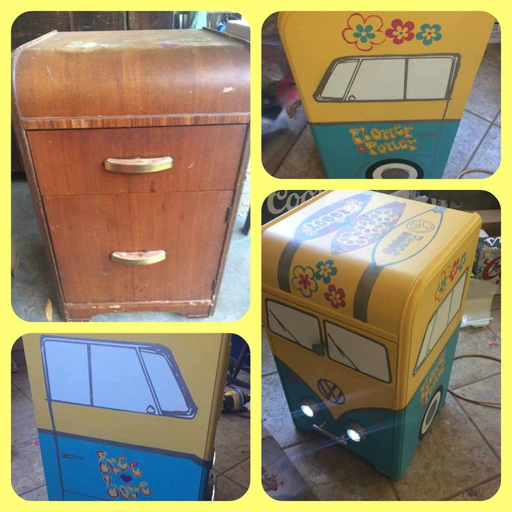 Patty Eaton Had An Old Waterfall Nightstand Converted Into A One Of Kind VW  Bus.