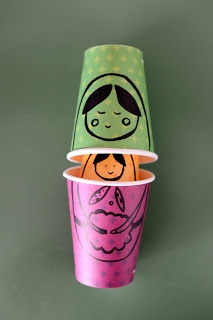 Make Russian Dolls with paper cups