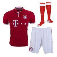 Bayern Munichen Home 16-17 Season Soccer Kit (Shirt+Shorts+Socks)