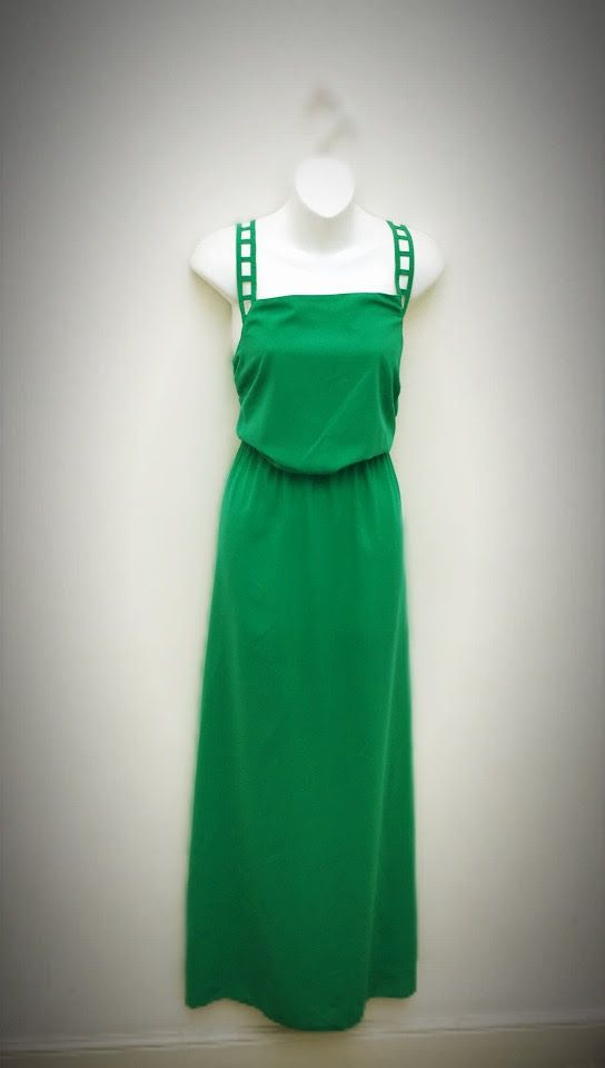 Maxi Dress – Emerald Green   The Design House