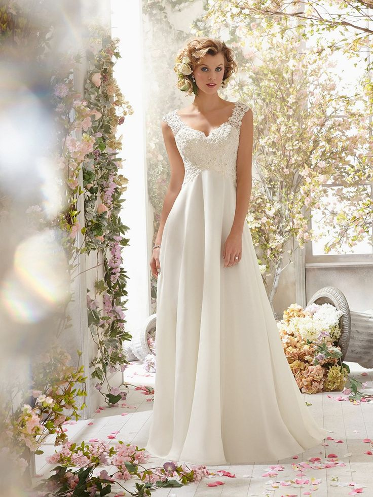 2016 Princess V-neck Chiffon Wedding Dresses from PromWill !