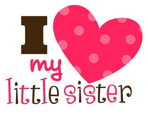 I Love My Sister Clipart - clipartsgram.com