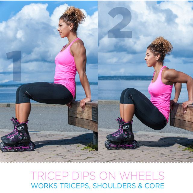 Tricep Dips on Wheels - Get Inline Fit - K2 Skate Workout
