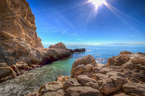 Terranea Sea Caves - Rancho Palos Verdes, CA You can go all  the way through these caves at low tide.