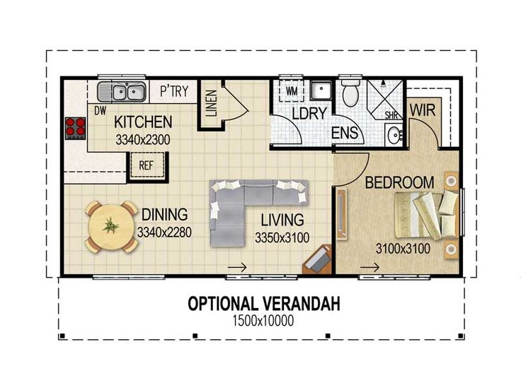 Best 25 granny flat plans ideas on pinterest granny for Floor plan granny flat