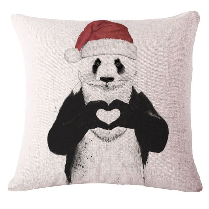 Christmas Santa Panda Pillow Case (Creative Pillowcase /Cushion Cover)