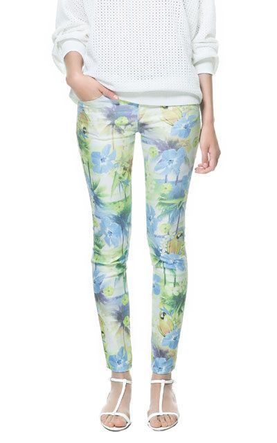 TROPICAL PRINT TROUSERS - Trousers - TRF | ZARA Philippines