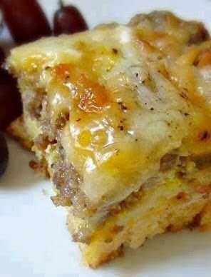 New Cake Recipes: Sausage, egg and biscuits casserole