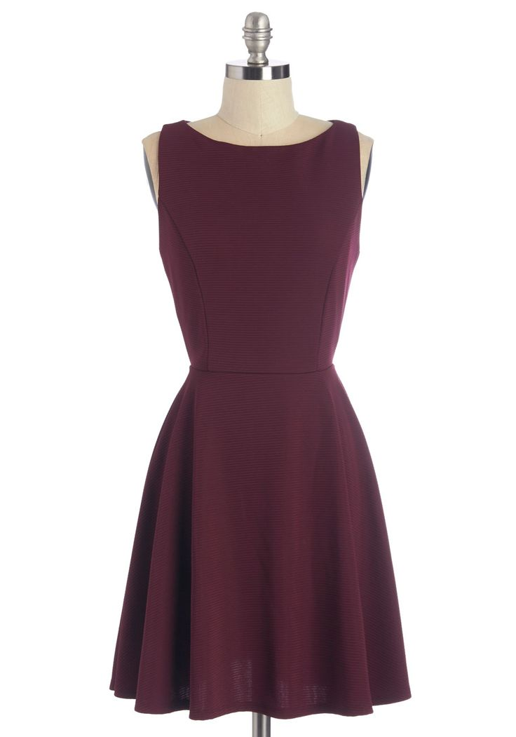 Show Them the Sway Dress. Youre the first to arrive and the last to leave the dance floor when youre wearing this burgundy dress! #red #modcloth