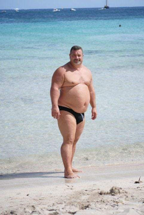 Fat guy in a bikini