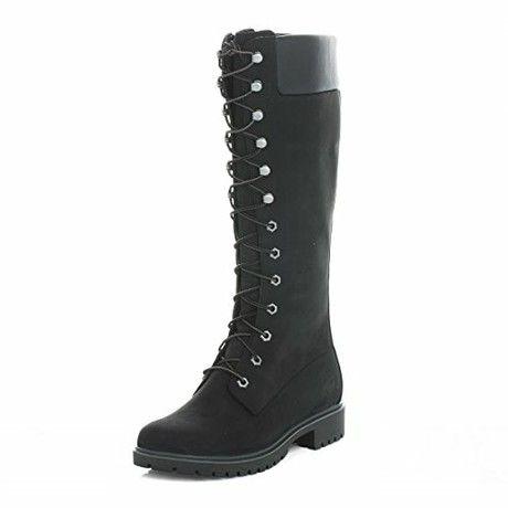 Timberland Womens Black Premium 14 Inch Boots-UK 7.5