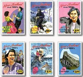 Big moments in NZ History stamps