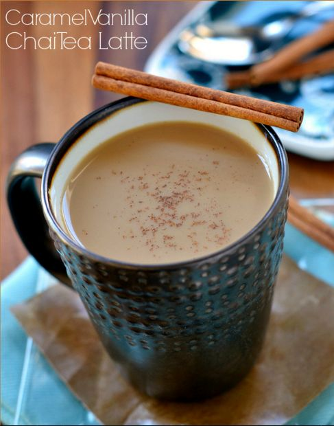 Caramel vanilla chai tea latte