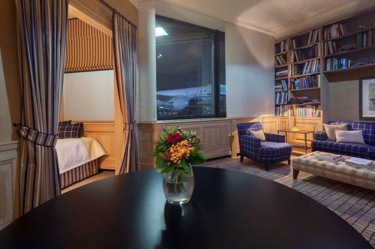 Neue VIP-Lounge am Frankfurter Flughafen: Wartezone in Marmor