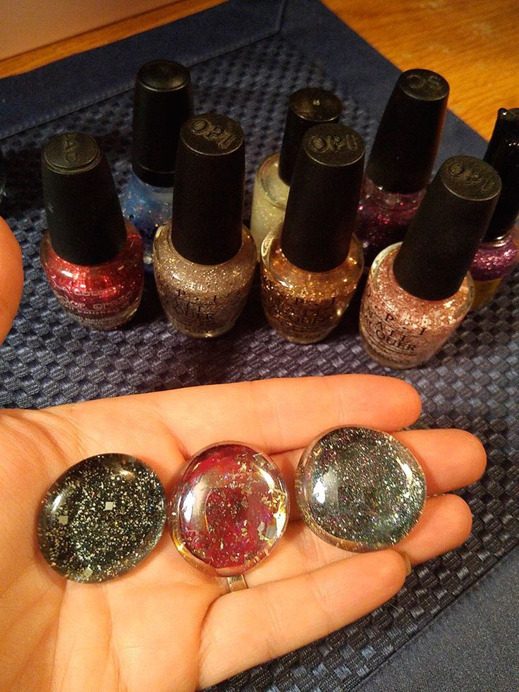 How To Make Nail Polish Gems - A fun and cheap craft project to do with the kids!