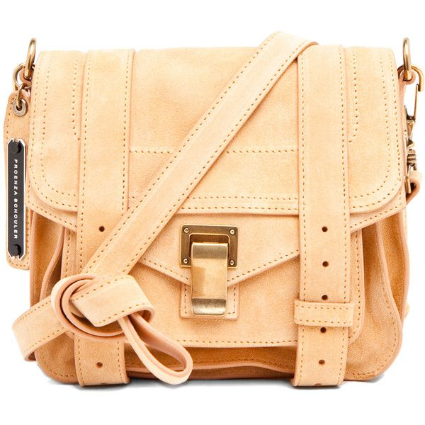 Proenza Schouler Ps1 Pouch In Melon Suede Found On Polyvore