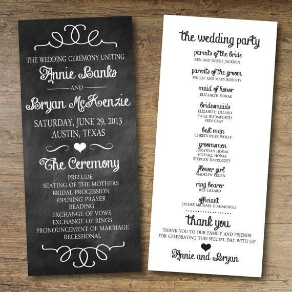17 Unique (and Free!) Printable Wedding Programs