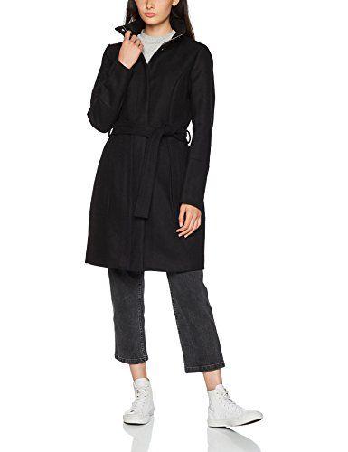 Wool Noos Clothes Coat Femme Vila Black Manteau Noir Vibee 36 IwEPSddWq