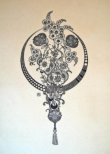 This would make a beautiful back or rib cage tattoo.